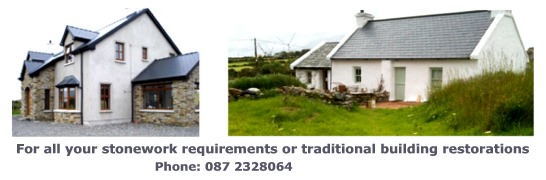 For all your stonework requirements or traditional building restorations, Phone: 087 2328064. Pat Harkin Stonework & Restorations
