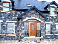 Front of house with traditional stonework finish by Pat Harkin Stonework & Building Restorations, Donegal, Ireland