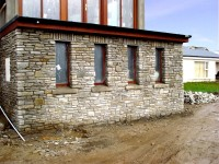 Stone fronted extension & balcony by Pat Harkin Stonemason & Tradition Building Restoration Specialist, Donegal, Ireland